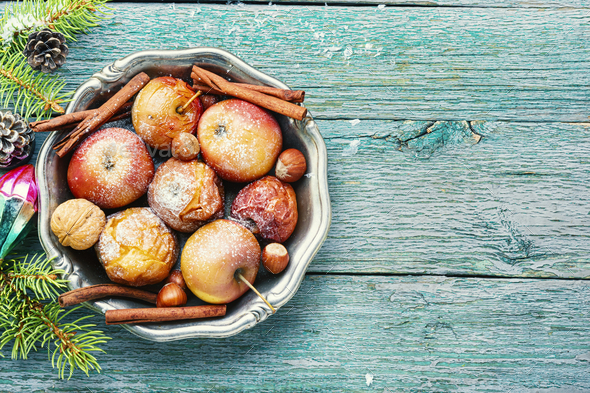 Tasty baked apples - Stock Photo - Images