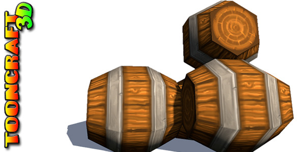 Chunky Wooden Barrels - 3DOcean Item for Sale