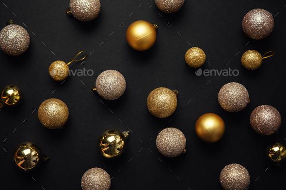 Minimalistic Christmas Flat Lay Background - Stock Photo - Images