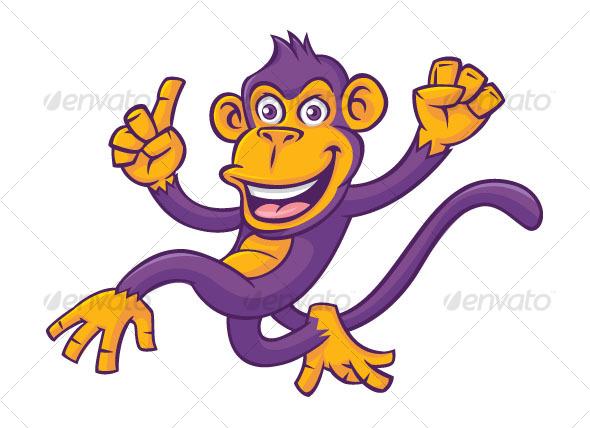 Purple monkey - Animals Characters