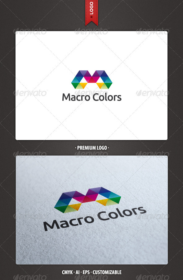 Macro Colors Logo Template - Abstract Logo Templates