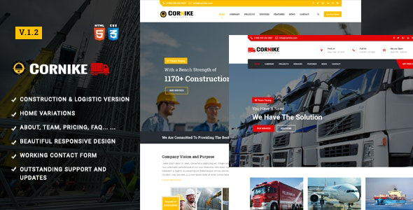 Cornike | Construction Company HTML Template by trippleS