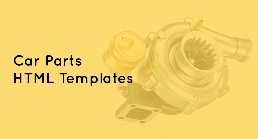 Car Parts, Car Accessories Shop HTML Template