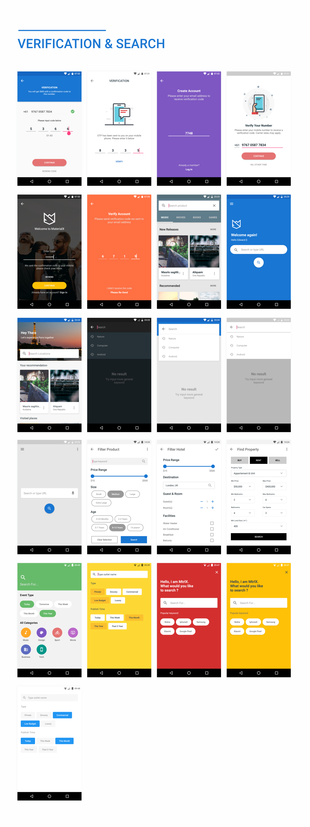 MaterialX - Android Material Design UI Components 2.5 - 45