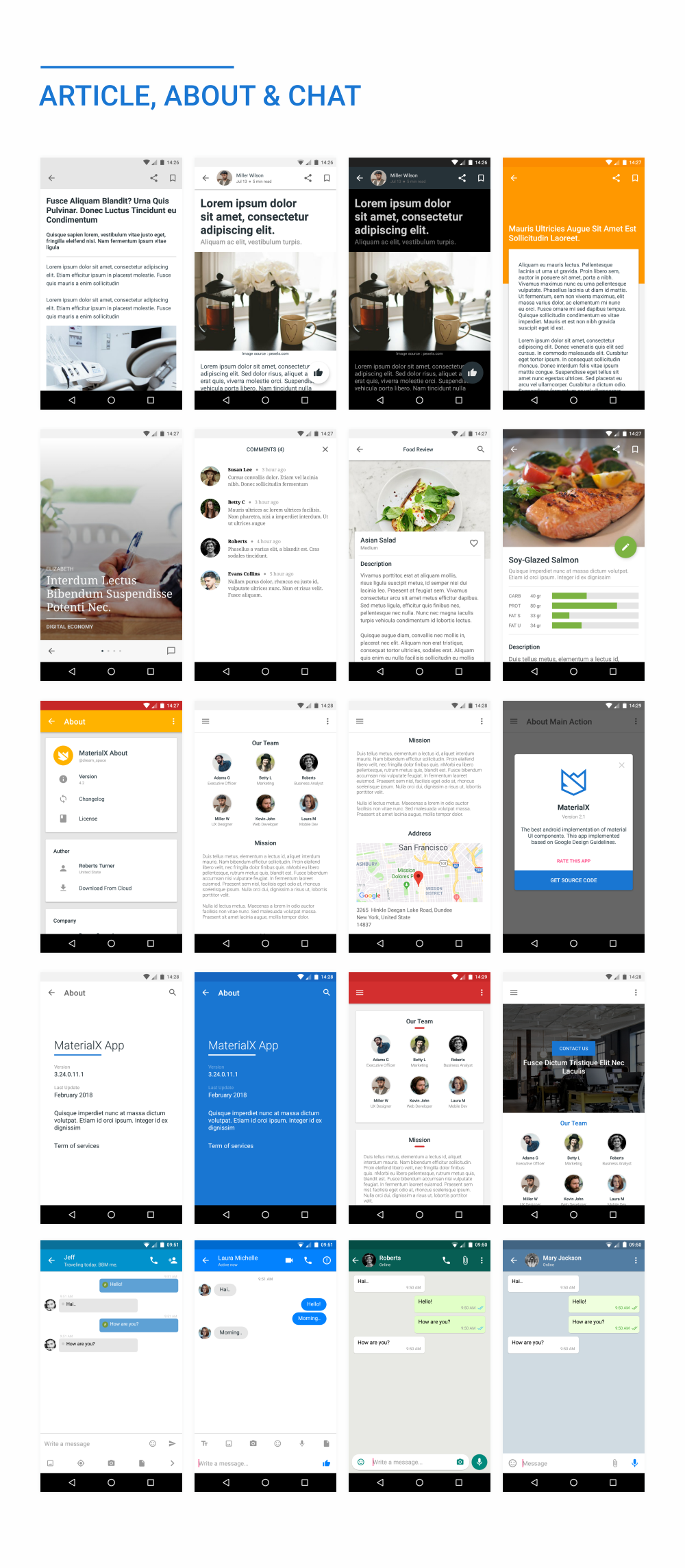 MaterialX - Android Material Design UI Components 2.5 - 48