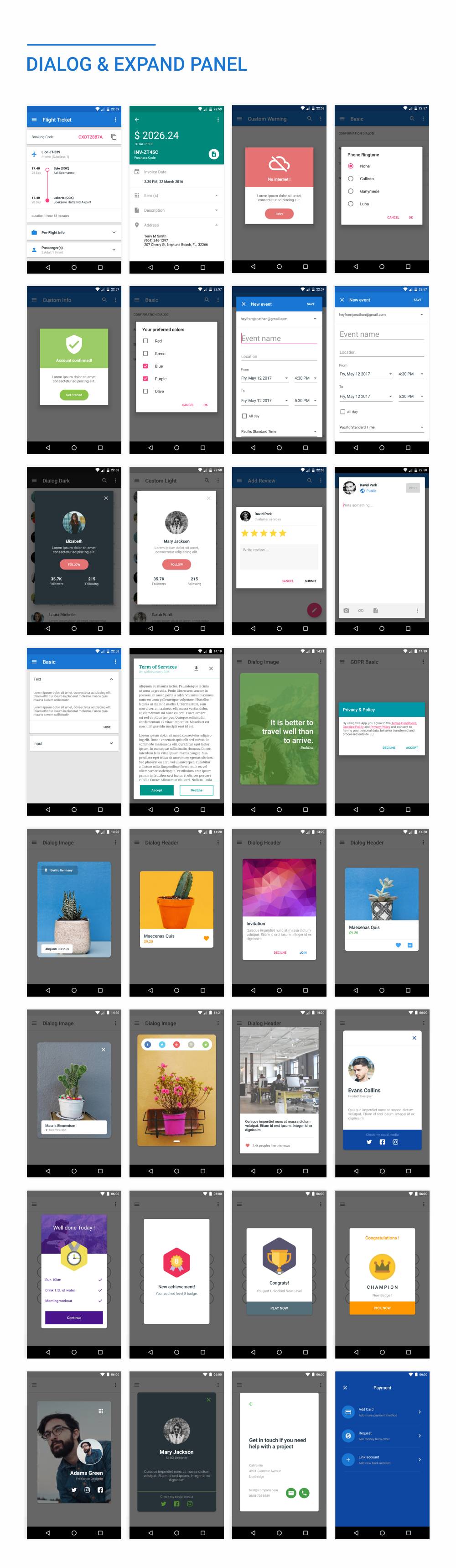 MaterialX - Android Material Design UI Components 2.5 - 36