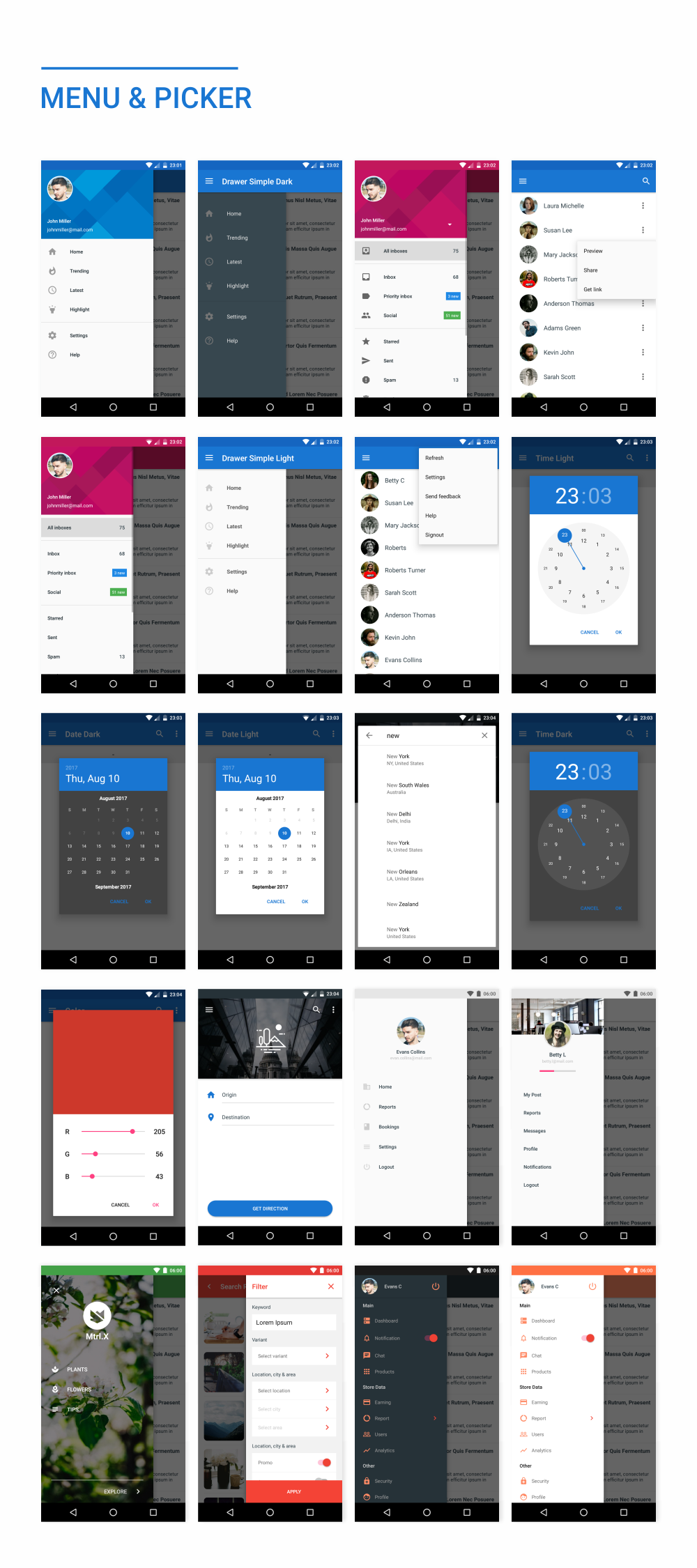 MaterialX - Android Material Design UI Components 2.5 - 38