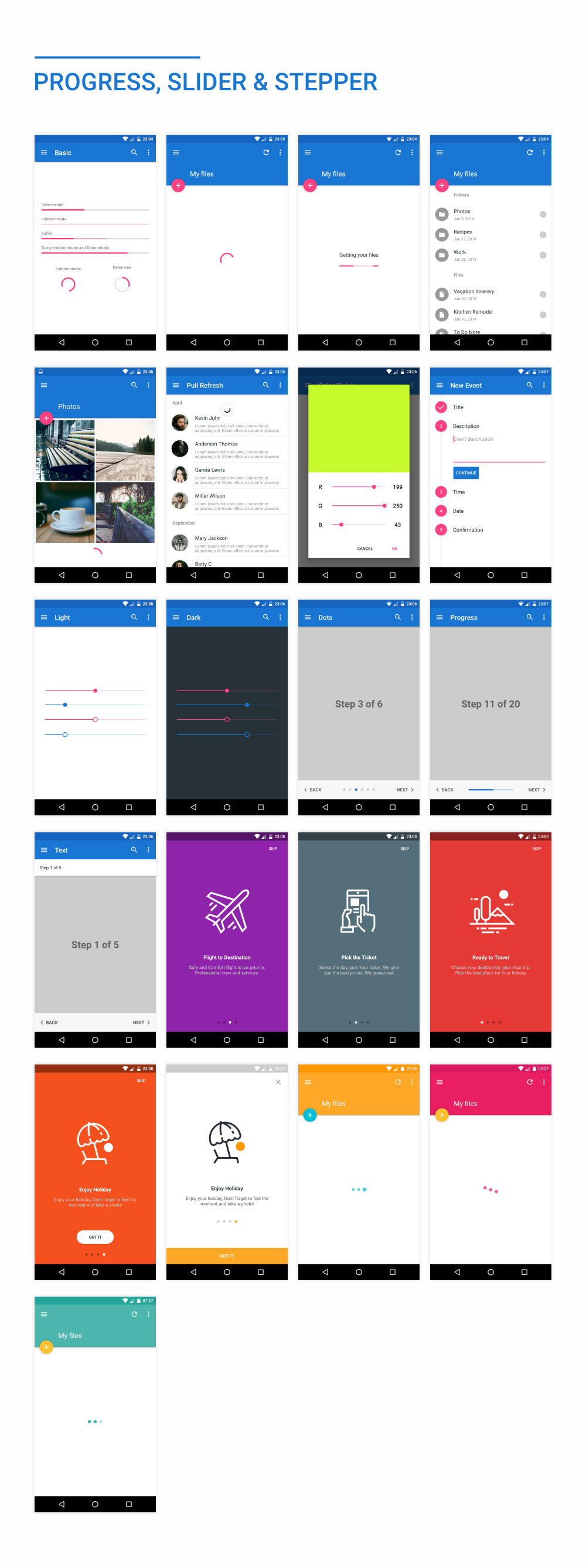 MaterialX - Android Material Design UI Components 2.5 - 39