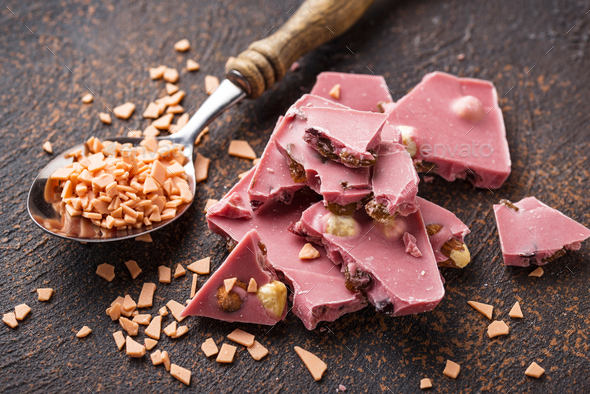 Pink or ruby chocolate, trendy food - Stock Photo - Images