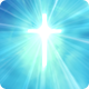 Holy Cross with Heavenly Light - Blue - VideoHive Item for Sale