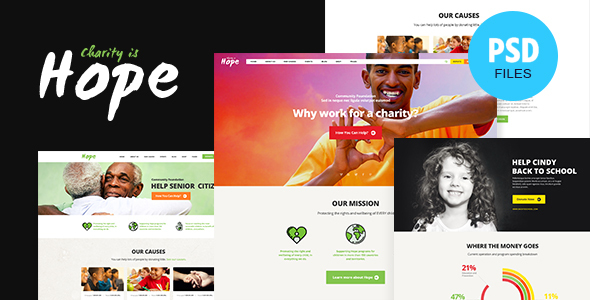 Hope | Non-Profit & Charity PSD Template
