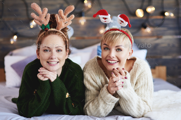 Portrait of two beautiful girls - Stock Photo - Images
