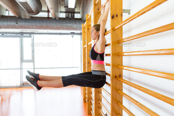 Two sporty young woman doing aerobic class on a fitness center. - Stock Photo - Images