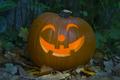 Orange kind smiling illuminated Halloween pumpkin - PhotoDune Item for Sale