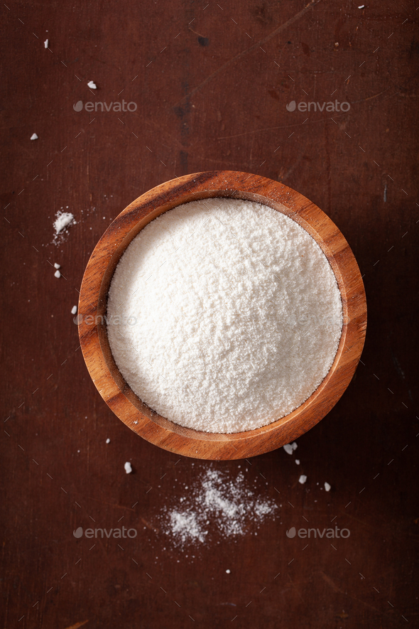 coconut flour healthy ingredient for keto paleo diet - Stock Photo - Images