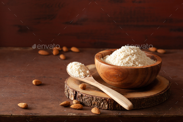 almond flour. healthy ingredient for keto paleo gluten-free diet - Stock Photo - Images