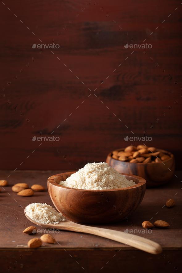 almond flour. healthy ingredient for keto paleo gluten-free diet - Stock Photo - Images