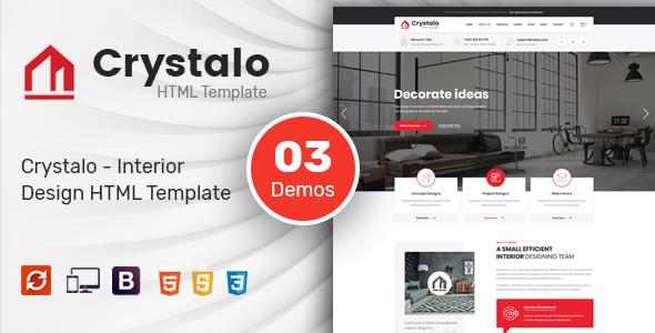 Crystalo - Interior Design HTML Template