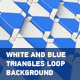 White And Blue Triangles Background - VideoHive Item for Sale