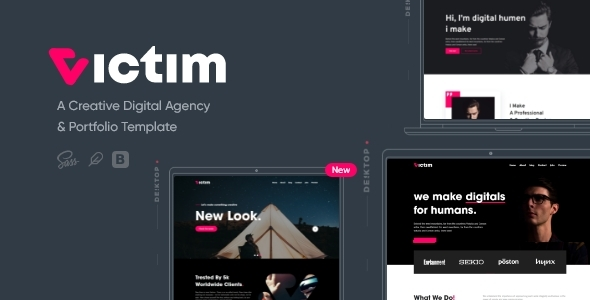 Victim - Digital Agency & Portfolio Template
