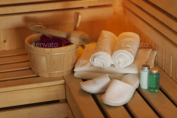 Arrangement of the health spa equipments - Stock Photo - Images
