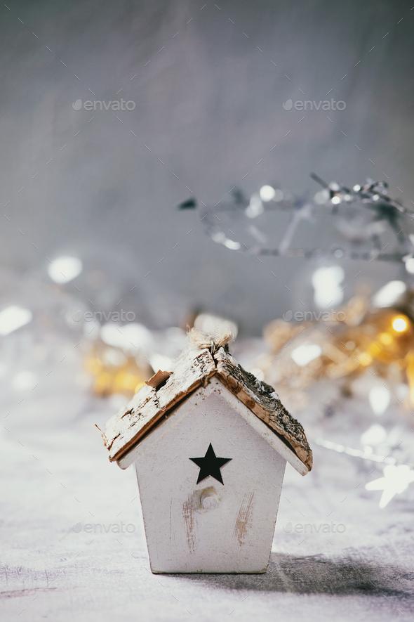 Christmas toy birdhouse - Stock Photo - Images