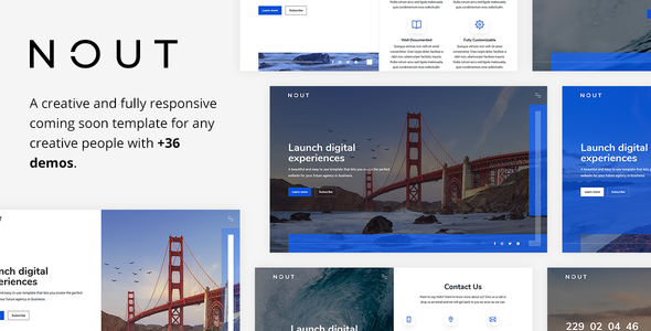 Nout - Creative Coming Soon Template