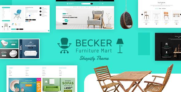 Becker   Furniture shop, Electronics Shopify Theme