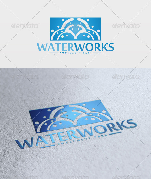 Water Works Logo - Nature Logo Templates