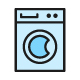 Set Of Laundry And Cleaning Color Line Icons. Pack Of 64x64 Pixel Icons