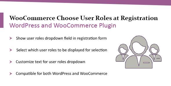 Download WooCommerce WordPress Choose User Roles at Registration Plugin Free Nulled