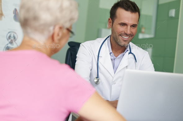 Visits in this doctor always are pleasure - Stock Photo - Images