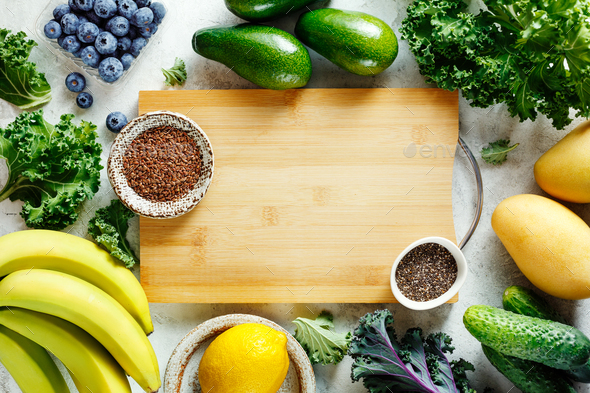 Ingredients for fruit smoothies - Stock Photo - Images