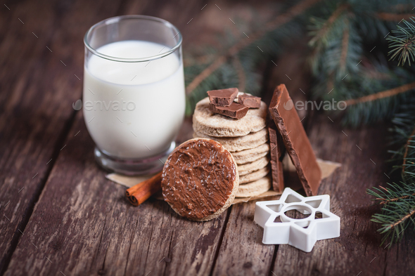 Close up of Christmas snacks - Stock Photo - Images