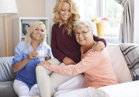 I'm happy when I can host my family - Stock Photo - Images