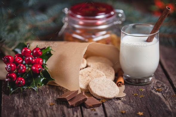 Sweet snacks for Christmas evening - Stock Photo - Images