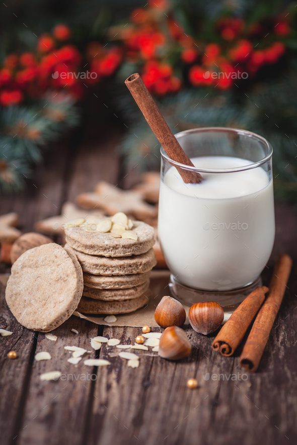 Close up of Santa Claus snacks - Stock Photo - Images