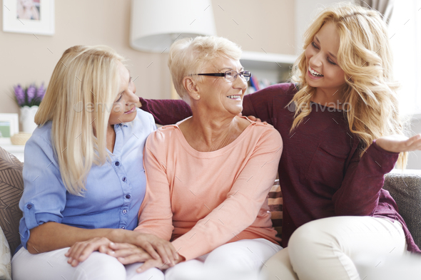 Spending good time with family - Stock Photo - Images