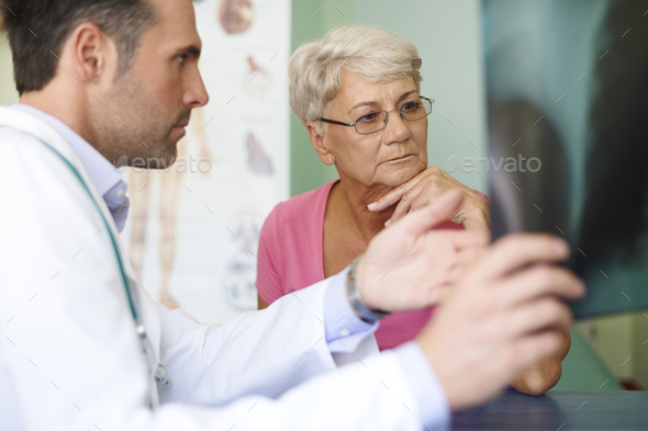 Don't worry, it's only small change in your lungs - Stock Photo - Images