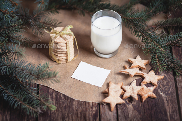 Cookies and milk for Santa Claus - Stock Photo - Images