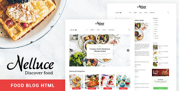 Nelluce - Responsive HTML5 Food Blog Template