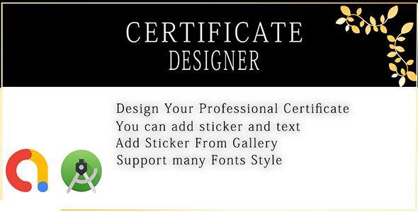 Certificate Designer And Creator