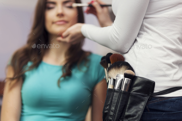 Time to visit in make up artist - Stock Photo - Images