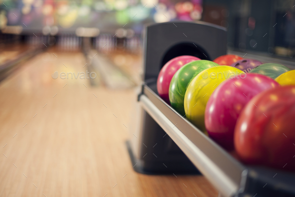 Close up of bowling balls - Stock Photo - Images