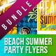 Summer Spring Party Flyer Bundle  - GraphicRiver Item for Sale