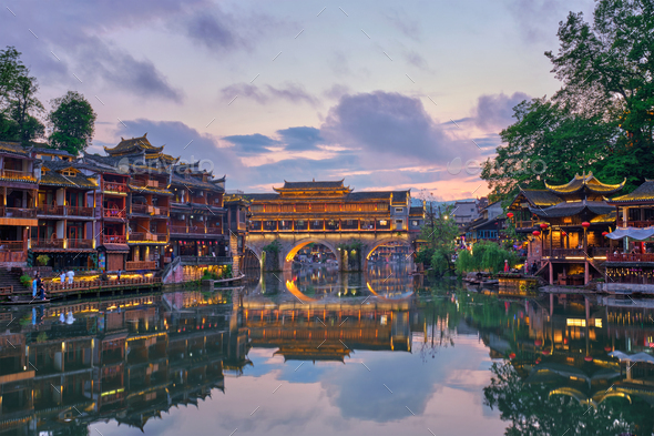 Feng Huang Ancient Town Phoenix Ancient Town , China - Stock Photo - Images