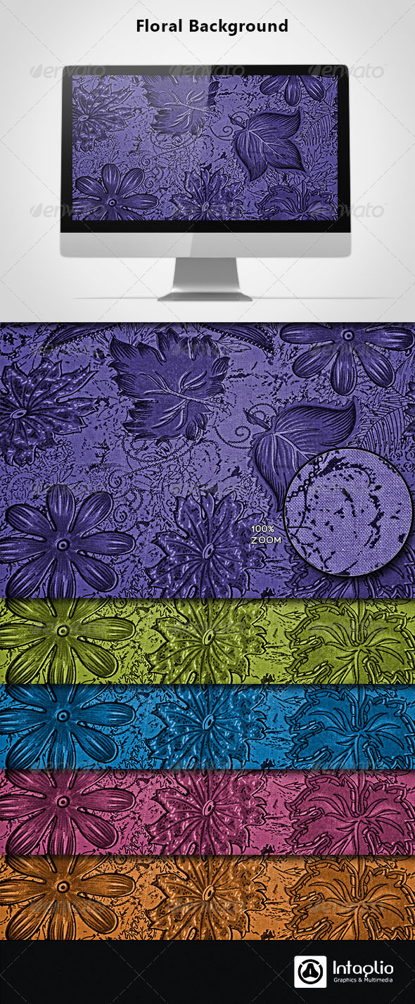 Floral Background 09 - Backgrounds Graphics