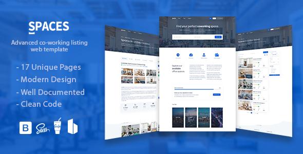 Spaces - Coworking Listings Template