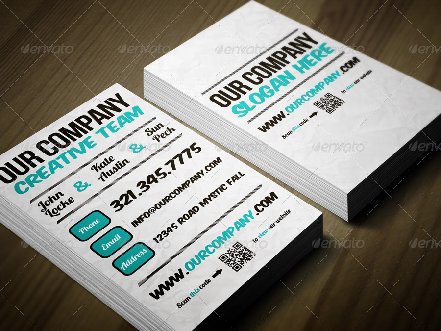 Typographic Business Card by Dutchflow | GraphicRiver