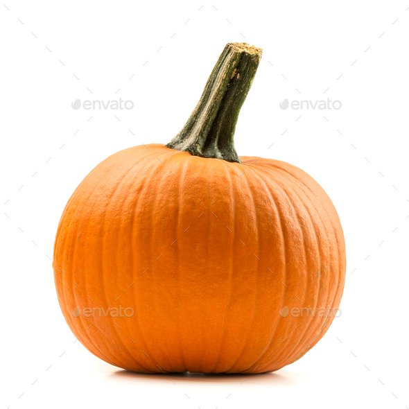 Fresh orange pumpkin isolated - Stock Photo - Images